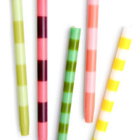 Striped Taper Candles – Set of 2 on Wantist