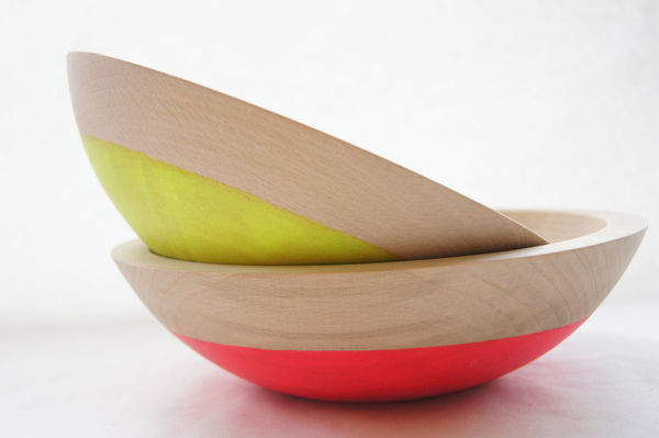 Neon Salad Bowls by Wind & Willow Home – Set of 2 4