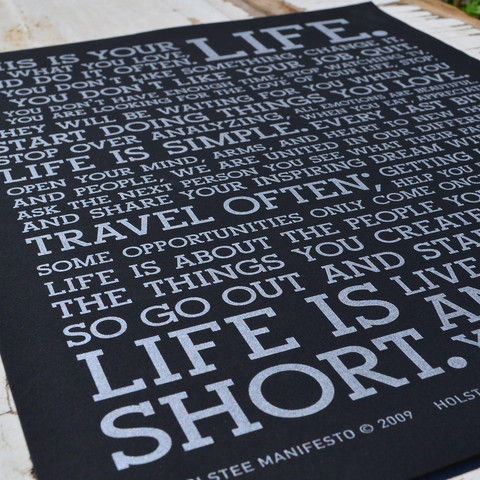 Holstee Manifesto Print on Black on Wantist