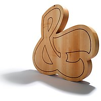 Large Ampersand Cutting Board by House Industries