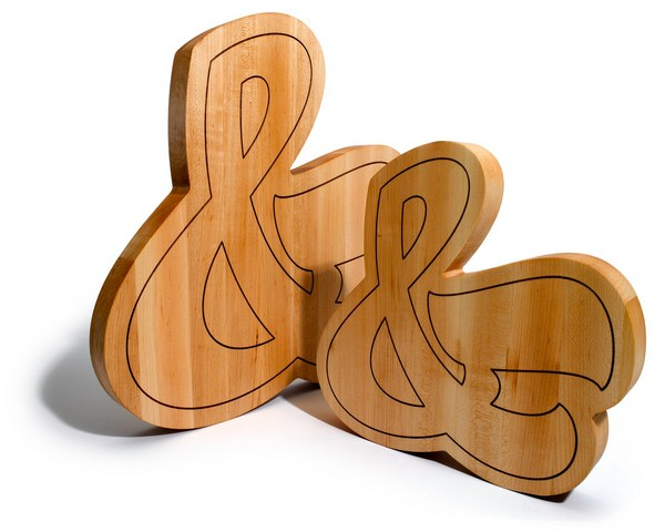 Large Ampersand Cutting Board on Wantist