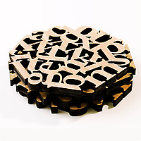 Bamboo Type Coasters stack