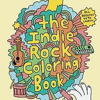 Indie Rock Coloring Book cover
