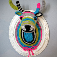 Crocheted Faux Taxidermy by Manafka Mina on Wantist