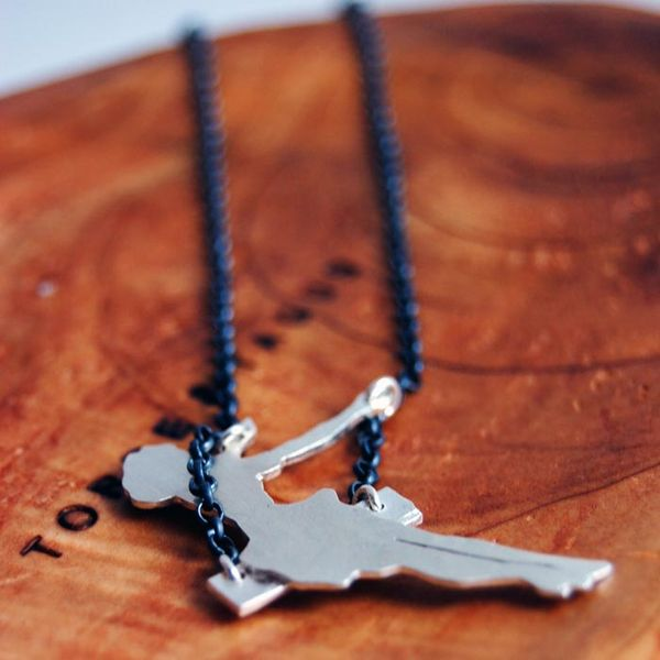 Swinging Girl Necklace by Markhed Design on Wantist