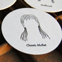 Mullet Letterpress Coasters – Set of 8 1