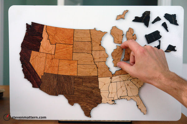 Magnetic Wood Map Puzzle on Wantist