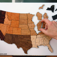 Magnetic Wood Map Puzzle 4