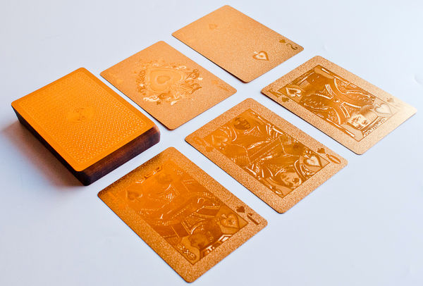 Gold Playing Cards on Wantist