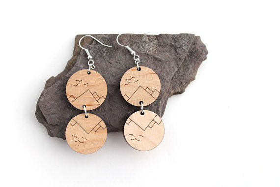 Mountain Reflections Earrings  1