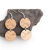 Mountain Reflections Earrings  on Wantist
