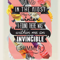 The Invincible Summer Print on Wantist