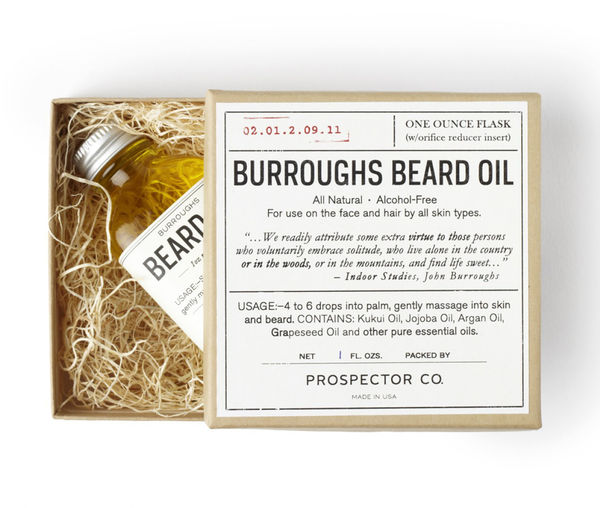 Prospector Co. Burroughs Beard Oil on Wantist