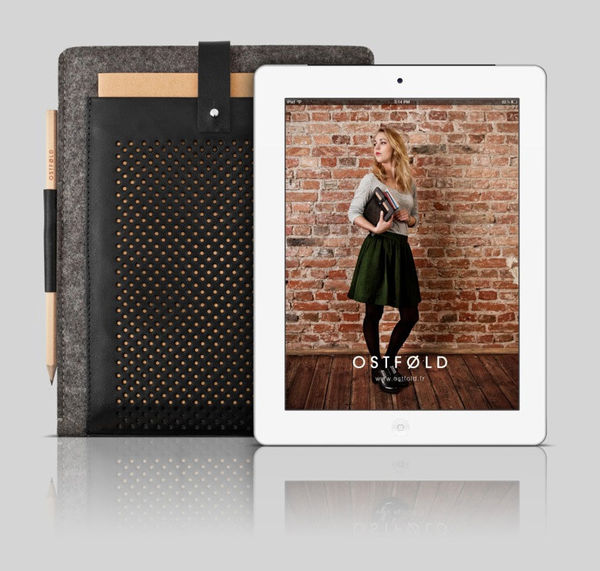 Wool & Leather iPad Case by Ostfold on Wantist