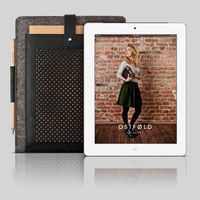 Wool & Leather iPad Case by Ostfold 5