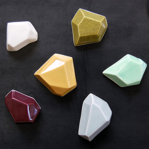 Faceted Magnets by Pigeon Toe Ceramics on Wantist