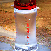 LightCap 300 Solar-Powered Lantern and Water Bottle with map