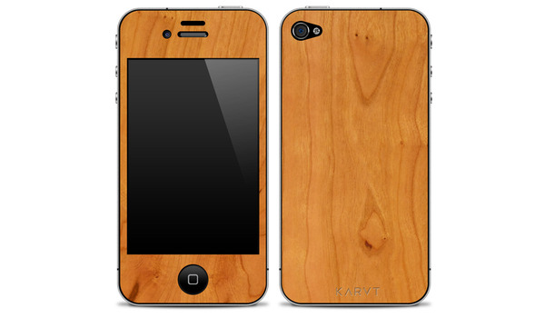 KARVT iPhone4 Wood Skin Natural Cherry