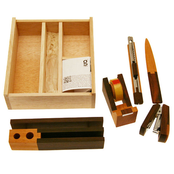 Singgih Kartono Wooden Desk Set on Wantist