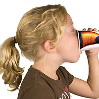 Girl with Toucan Fred Pick Your Nose Party Animal Cup