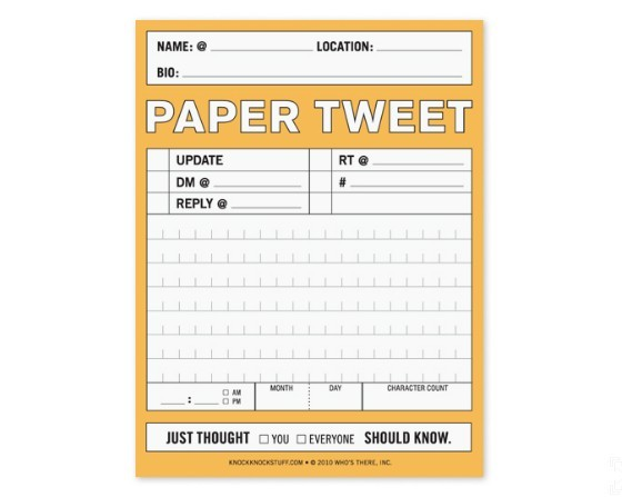 Paper Tweet Nifty Notepad on Wantist