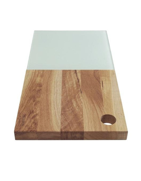 Edge Oak Bread Board with Glass on Wantist