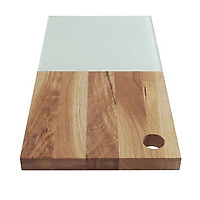 Sagaform Edge Oak Bread Board with Glas