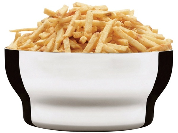 Sagaform Stainless Steel Snack Bowl with french fries